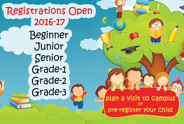 Pre-register your child for Pre-school to Grade 3